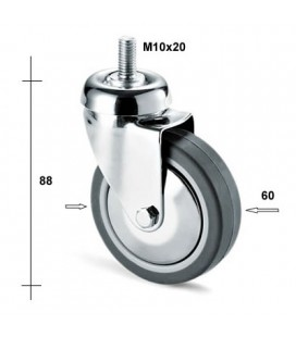 RUOTA 220C/B mm60 PERNO M10x20