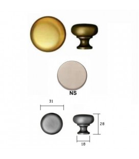 FURNITURE KNOB 100/31 SATIN NICKEL