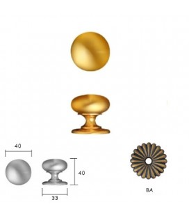 DOORKNOB 158 mm40 Old Bronze