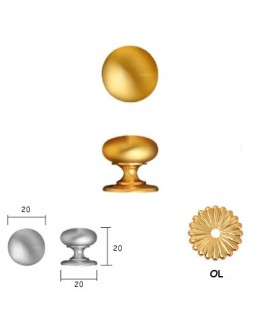DOORKNOB 158 mm20 Polished Brass
