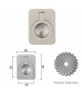 MANIGLIA 587/40BA NICHEL SATINATO