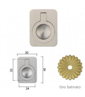 MANIGLIA 587/40BA OTTONE SATINATO