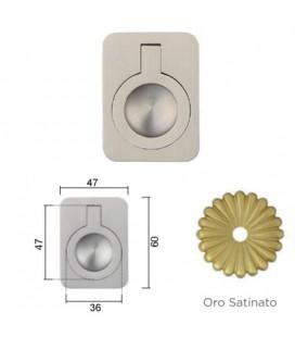 MANIGLIA 587/60BA OTTONE SATINATO