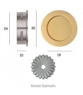 MANIGLIA 595/30 NICHEL SATINATO