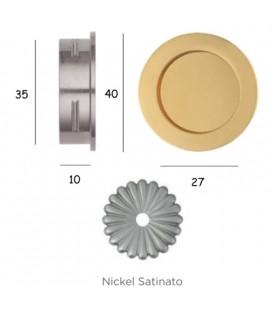 MANIGLIA 595/40 NICHEL SATINATO
