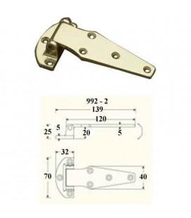 HINGE 992/02 mm120 POLISHED BRASS