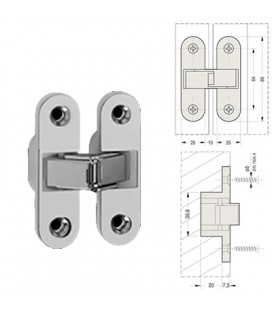 INVISIBLE HINGE 89x25 NICKEL plated