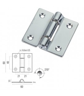 CHROME SQUARE HINGE