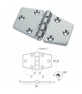 HINGE mm95 CHROME PLATED