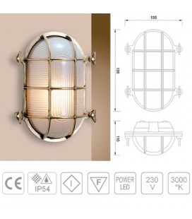 TARTARUGA LED OVALE mm195 OTTONE