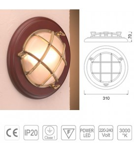2327 BRASS LAMP