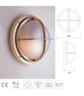 LAMPADA C/GRIGLIA mm240 OL