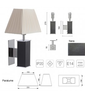 BLACK TUCANA LAMP 250