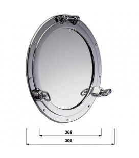OBLO ' MIRROR 300 CHROME PLATED