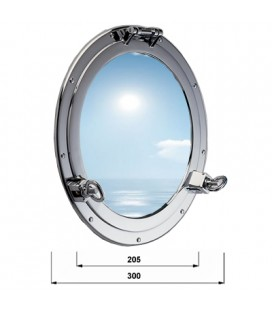 OBLO ' GLASS 300 CHROME PLATED