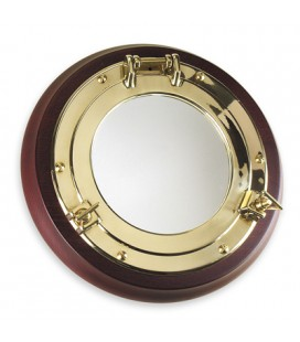 OBLO ' MIRROR 320 WOOD/BRASS