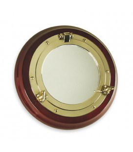 OBLO ' MIRROR 270 WOOD/BRASS