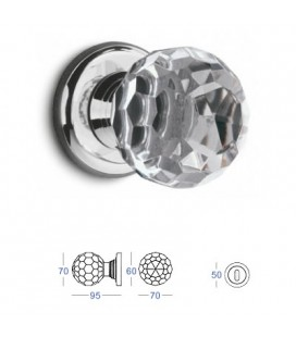 POMOLO CRYSTAL mm70 CHROME PLATED