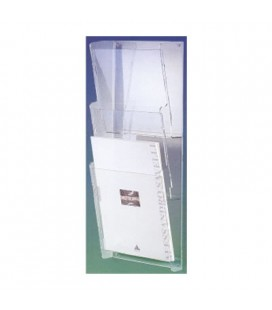 BROCHURE HOLDER A4 3T WALL