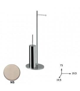 FLOOR LAMP P. ROLL + TOILET BRUSH NICHELSAT.