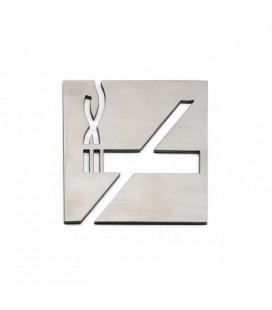 PICTOGRAM NO SMOKING STAINLESS STEEL