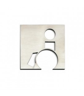 STAINLESS STEEL PICTOGRAM DISABLED