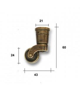 RUOTA mm24 C/PUNTALE TONDO O.A.