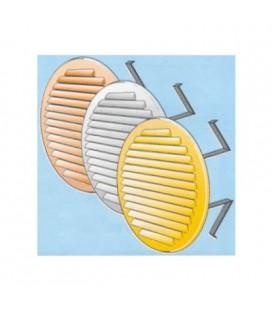 ROUND BRASS GRILLE mm150 SPRING + RET