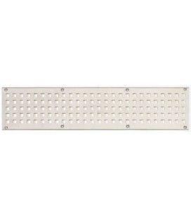 SQUARE HOLE GRILLE Stainless steel mm 200x60