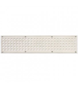 SQUARE HOLE GRILLE Stainless steel mm 400x100