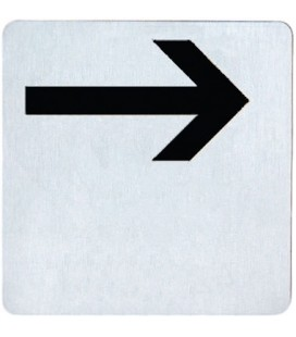 RIGHT ARROW PICTOGRAM STAINLESS