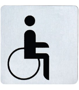 DISABLED WC STAINLESS STEEL PICTOGRAM