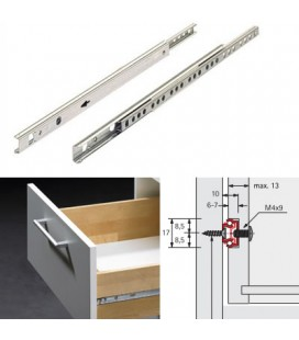 DRAWER GUIDES mm17x220/355 GALVANIZED