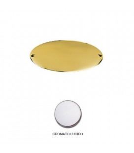 CHROME OVAL PLATE