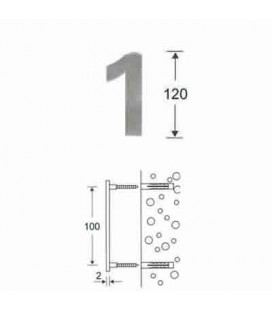 NUMERO 1\' INOX mm120\'