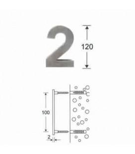 NUMERO 2\' INOX mm120\'