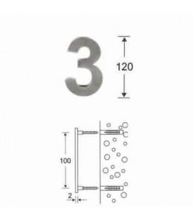 NUMERO 3\' INOX mm120\'