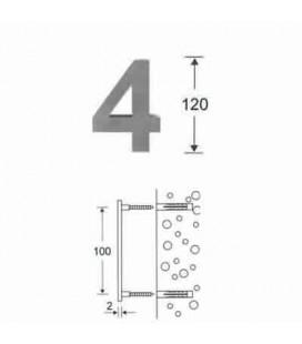 NUMERO 4\' INOX mm120\'