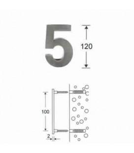 NUMERO 5\' INOX mm120\'