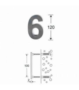 NUMERO 6\' INOX mm120\'