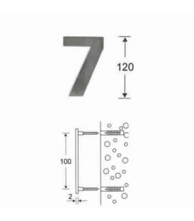 NUMERO 7\' INOX mm120\'