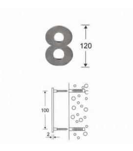 NUMERO 8\' INOX mm120\'