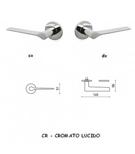 1/2 MANIGLIA LAMA B CROMATO