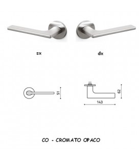1/2 MANIGLIA LOTUS CROMATO OPACO