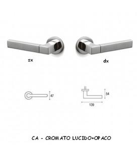 1/2 MANIGLIA PLANET CROMO LUCIDO+OPACO