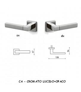 1/2 MANIGLIA PLANET Q CROMATO+SATINATO