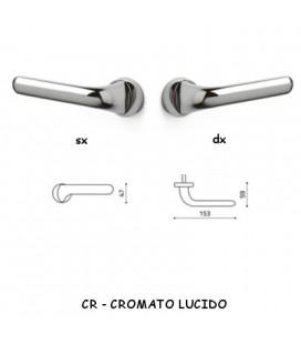 1/2 MANIGLIA POLO CROMATO LUCIDO