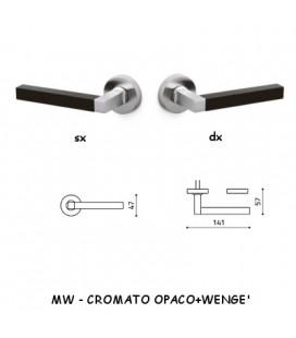 1/2 MANIGLIA TIME CROMATO OPACO+WENGE'