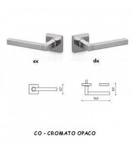 1/2 MANIGLIA TIM Q CROMATO OPACO