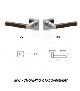 1/2 MANIGLIA TIM Q CROMATO OPACO+WENGE'